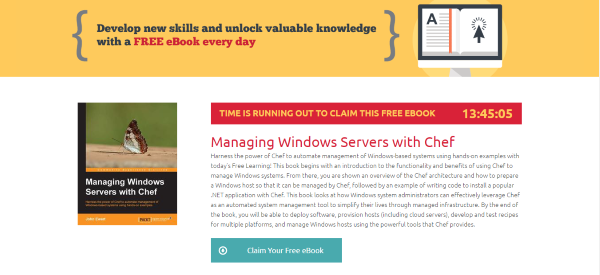 Pack Publishing Free Learning eBook Offer