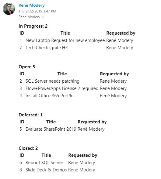 Advanced Flow – Daily Service Request Emails with Status Groups and