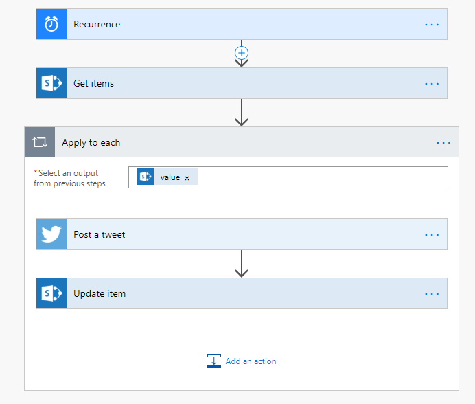 Scheduling Twitter Content with Microsoft Flow – Rene Modery