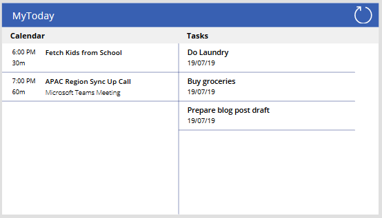 Creating a consolidated calendar and To-Do tasks view in